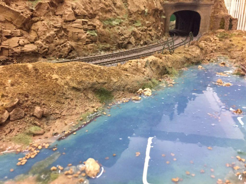 Fase 2: Lago após colocação da resina.