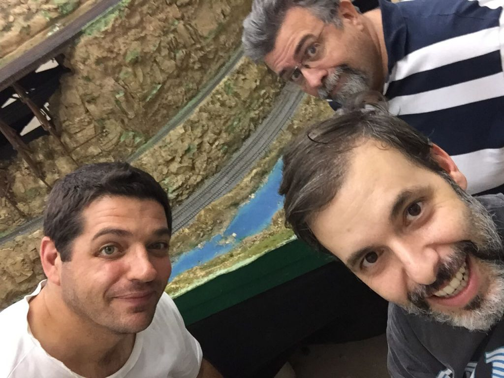 Presidente Alberto, Leandro e Arthur na reforma do Turkish Cannion.